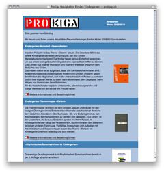 Screenshot Newsletter ProKiga